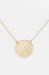Nashelle 14K Gold Fill Anchored Initial Disc Necklace 14K Gold Fill A