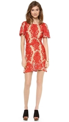 For Love And Lemons San Marcos Mini Dress Red
