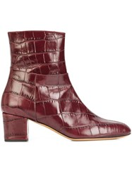 Altuzarra 'Callie' Ankle Boots Red