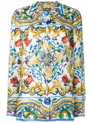 Dolce And Gabbana Printed Shirt Multicolour