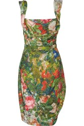 Vivienne Westwood Red Label Sequined Floral Print Corset Dress Green