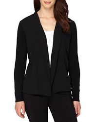 Tahari By Arthur S. Levine Solid Open Front Jacket Black