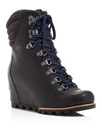 Sorel Conquest Lace Up Wedge Booties 100 Bloomingdale's Exclusive Black
