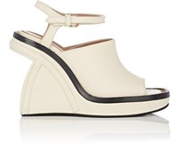 Marni Women's Sculpted Wedge Ankle Strap Sandals White