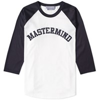 Mastermind Japan Logo Baseball Tee Blue