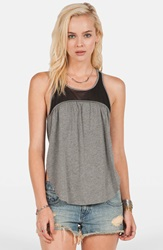 Volcom 'Embrace Me' Racerback Tank Heather Grey