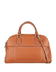 Cole Haan Tali Leather Double Zip Satchel Woodbury