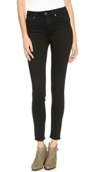 Paige Transcend Margot High Rise Ultra Skinny Jeans Black Shadow
