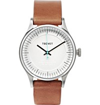 Tsovet Jpt C036 36Mm Stainless Steel And Leather Watch Silver