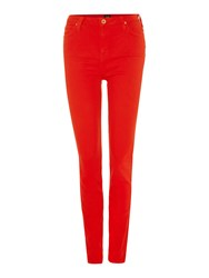 Lee Skyler High Rise Ankle Skinny Jean Red