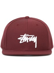 Stussy 'Stock' Snapback Cap Red