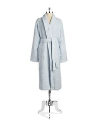 Lord And Taylor Cotton Terry Robe Pale Blue