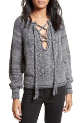 Free People Women's Lace Up Sweater Plum
