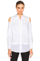 Kaufman Franco Kaufmanfranco Stretch Poplin Top In White