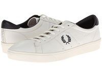 Fred Perry Spencer Leather Porcelain Navy Men's Shoes Gray