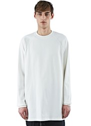 Rick Owens Oversized Baseball Sweater White