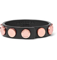 Givenchy Studded Leather Bracelet Black