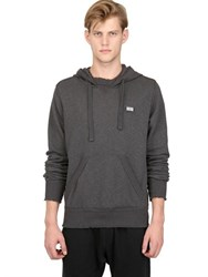 Dolce And Gabbana Raw Cut Cotton Fleece Hooded