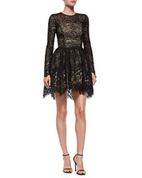 Alexis Long Sleeve Malin Lace A Line Skirt Black Size Xs 0 2
