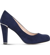 Carvela Advice Suede Court Shoes Navy