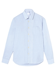 Jigsaw End On End Chambray Shirt Blue