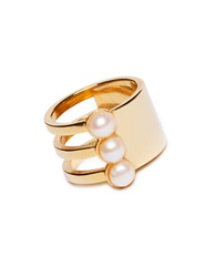 Mounser Eternity 4Mm Pink Cultured Pearl Short Ring Gold