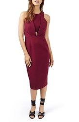 Topshop Women's Structured Crisscross Back Midi Dress