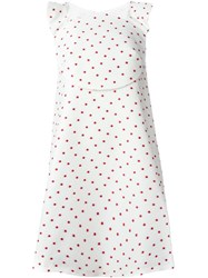 Delpozo Polka Dot A Line Dress White
