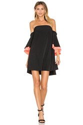 Milly Mila Double Flutter Sleeve Dress Black