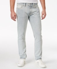 Guess Men's Destroyed Slim Fit Tapered Jeans Heavy Stonewash