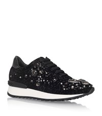 Casadei Jewel Sneakers Female Black