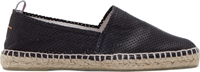 Castaner Black Perforated Leather Espadrilles
