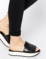 Whistles Haldi Platform Slider Flat Sandals Black