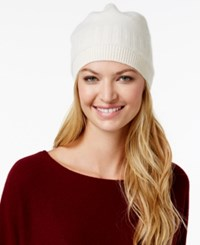 Charter Club Cashmere Ribbed Hat Only At Macy's Ivory