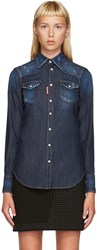 Dsquared Blue Denim Western Shirt