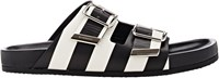 Givenchy Stripe Double Buckle Sandals Multi
