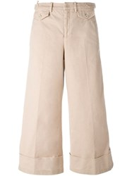 N 21 Nao21 Cropped Wide Leg Trousers Pink And Purple