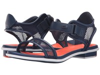 Lacoste Lonelle Low Sandal 216 2 Navy Orange Women's Sandals Blue