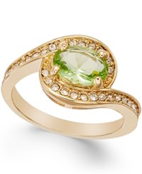 Charter Club Gold Tone Green Stone Ring Only At Macy's