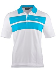 Chervo Ambrogio Stripe Regular Fit Polo Shirt White