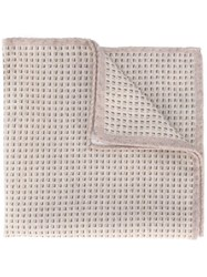Eleventy Textured Pocket Square Nude And Neutrals