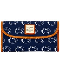 Dooney And Bourke Penn State Nittany Lions Ncaa Large Continental Clutch Navy