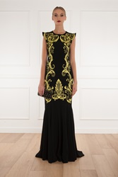 Andrew Gn Pagoda Embroidered Mermaid Gown