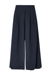 French Connection Ft Aro Crepe Wide Leg Trousers Nocturnal