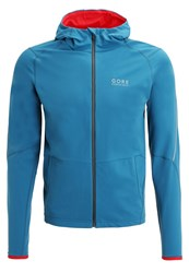 Gore Running Wear Essential Sports Jacket Ink Blue Red
