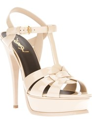 Saint Laurent Platform Stiletto Sandal Nude And Neutrals
