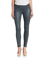 7 For All Mankind Coated Skinny Jeans Teal