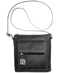 Giani Bernini Pebble Leather Venice Crossbody Black
