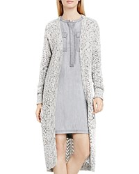 Vince Camuto Two By Camtuo Marled Pointelle Knit Duster Cardigan Antique White