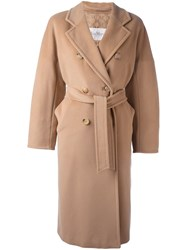 Max Mara Belted Trench Coat Nude And Neutrals
